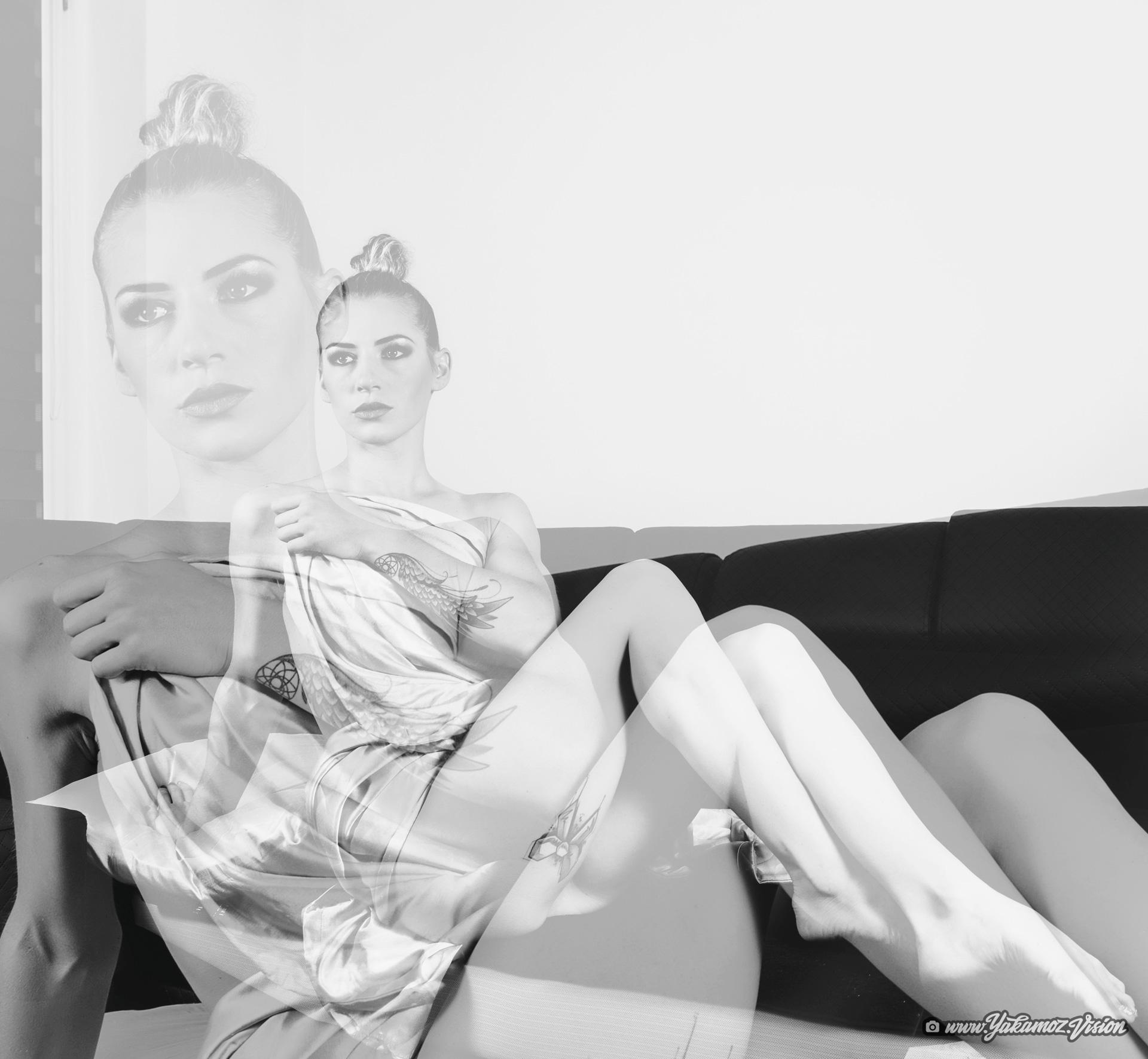 podwójna ekspozycja modelka fotografia